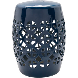 Ridgeway Blue Girdled Angelfish Ceramic Stool - Sandcastle Home