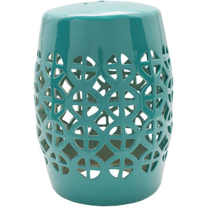 Ridgeway Emerald Bay Ceramic Stool - Sandcastle Home