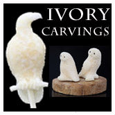Alaskan Walrus Ivory Carvings