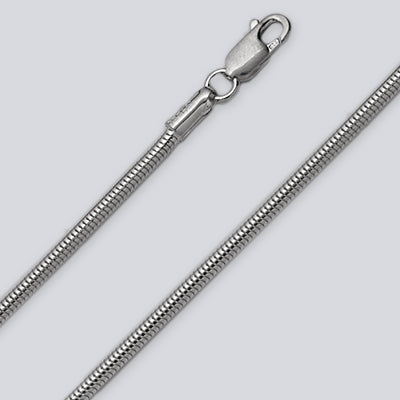 2.4mm Snake Silver Chain