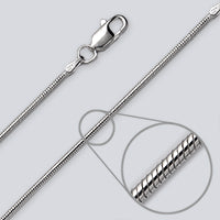 Round Magic 1.6mm Silver  Chain