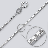 Box 1.4mm Silver Chain