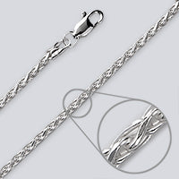 D-C Wheat Silver Chain