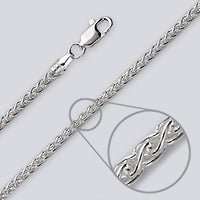 Wheat 060 Silver Chain