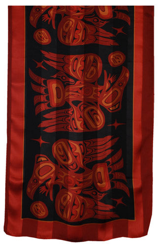 Raven Scarf - Burnt Red