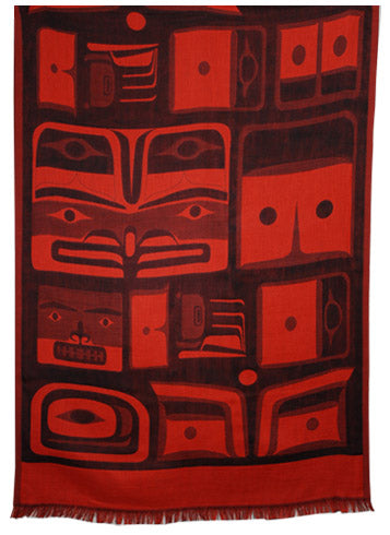 Chilkat Scarf - Red
