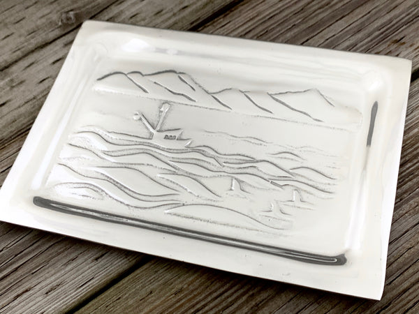 Seiner and Whales Plate