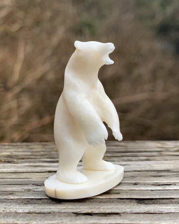 Walrus Ivory Carving- Polar Bear