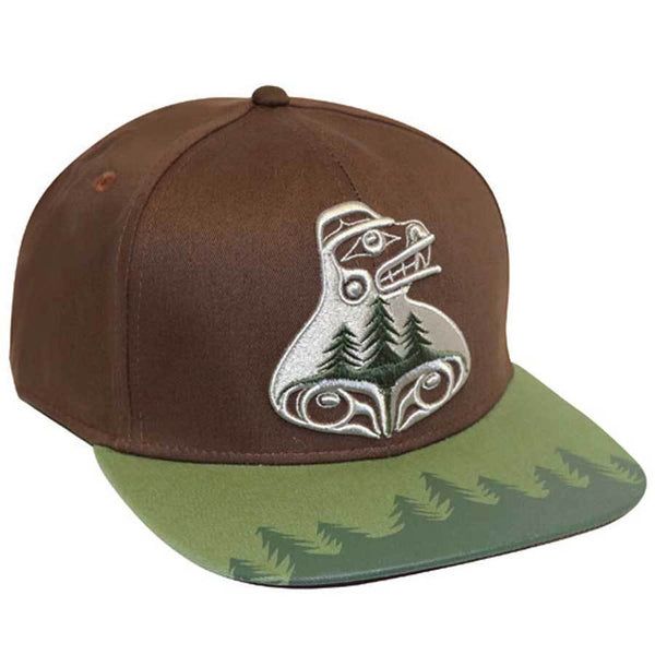 Snap Back Hat - Bear the tree hugger