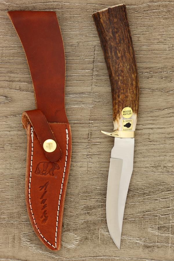Buried Tang Knife - Moose Antler