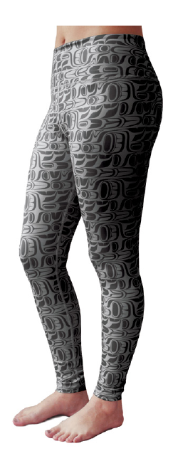 Performance Leggings - Pacific Formline (Black)