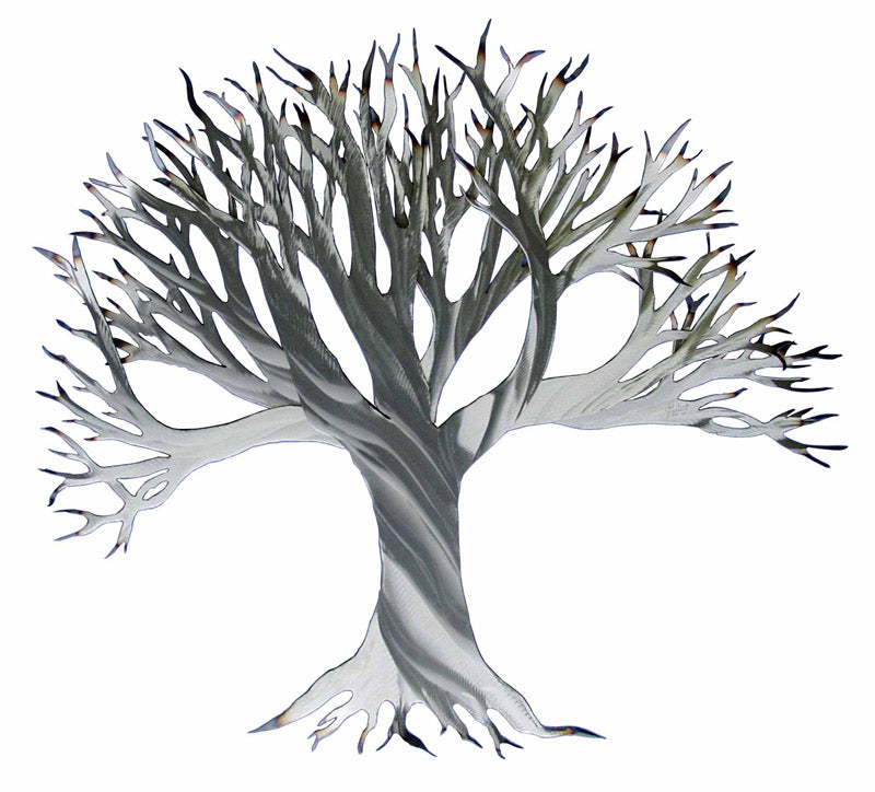 Branching Out (Silver) Steel Art