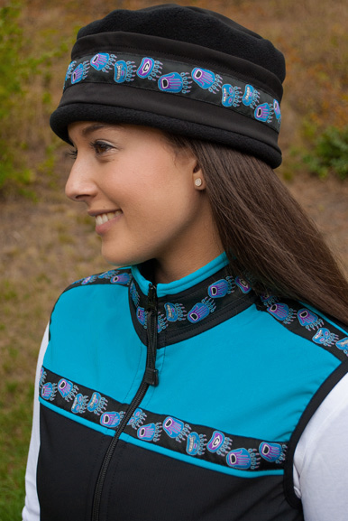 Women's Kodiak Vest (Softshell) Black, Tide Pool, Bear Tracks