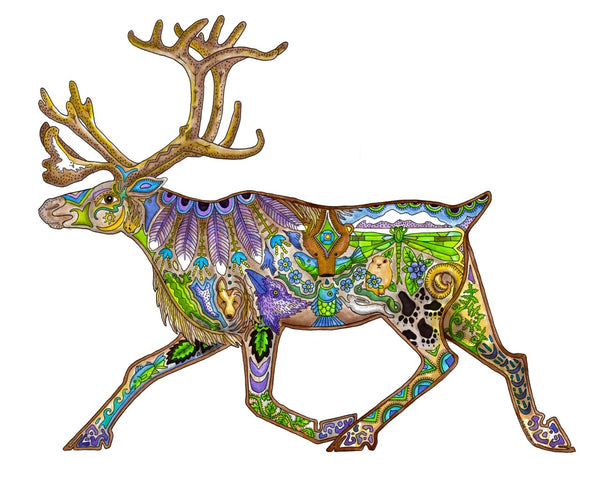 Caribou Art Card by Sue Coccia