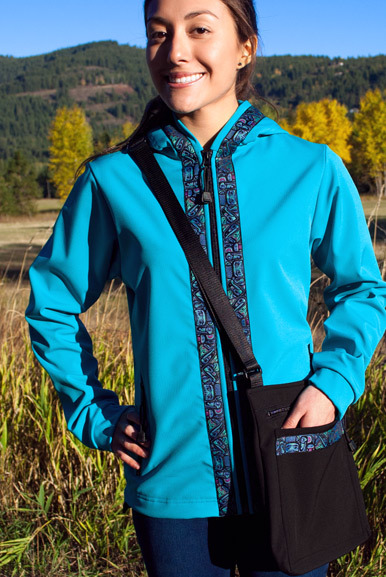 DENALI JACKET (Softshell) Tide Pool, Totem-Aqua (trim)