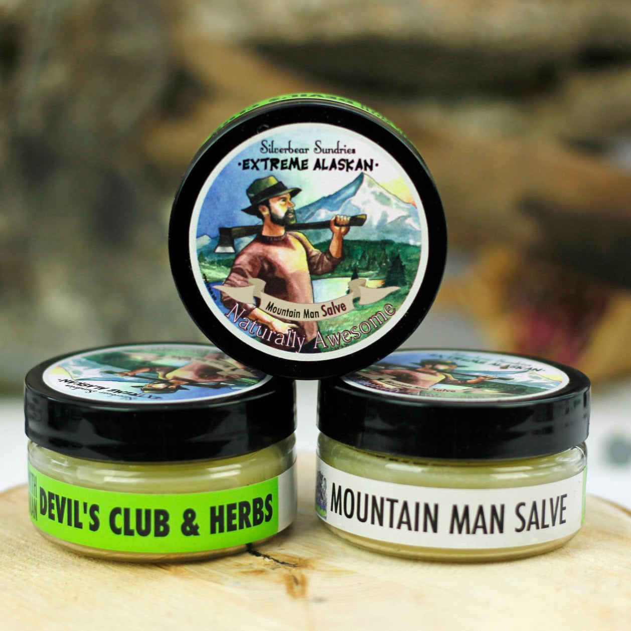 Extreme Alaskan Mountain Man Devils Club Salve
