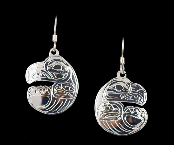 Eagle Sleeping Earrings by Chilton