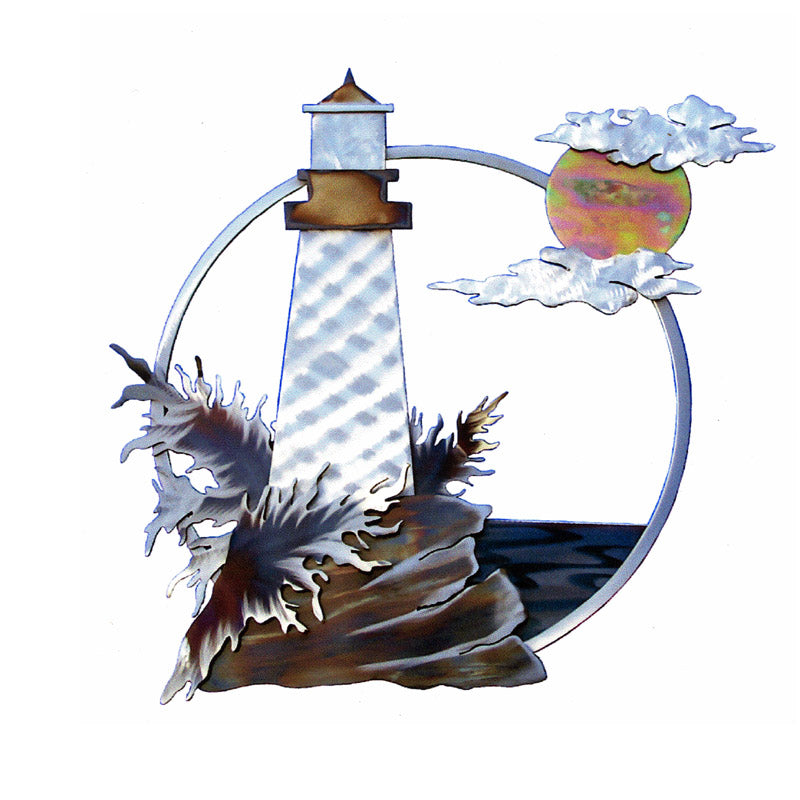 Guiding Lighthouse Steel Art