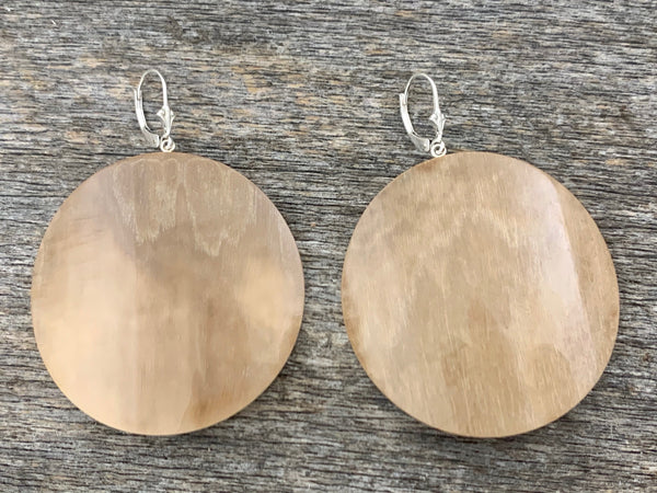 Mammoth Ivory Round Earrings