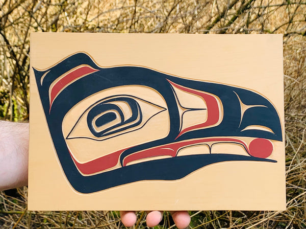 Raven Cedar Wall Plaque