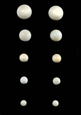 Ivory Round Bead Stud Earrings 925 Silver Post