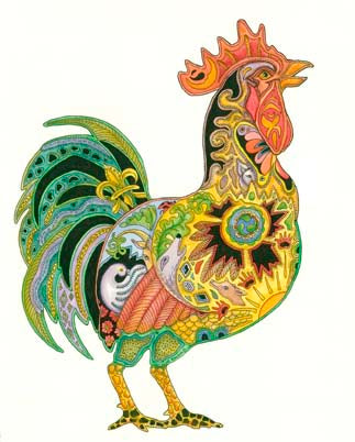 Rooster by Sue Coccia