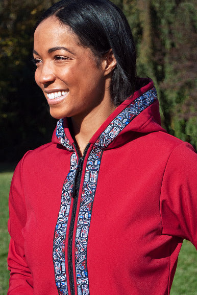 DENALI JACKET (Softshell) Ruby, Totem-Brite (trim)