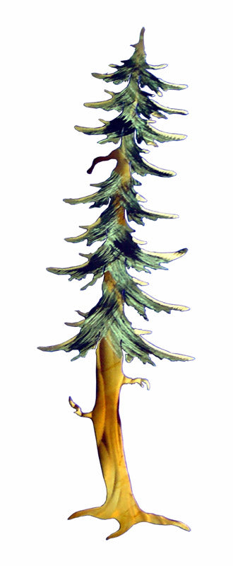Single Fir Tree Steel Art