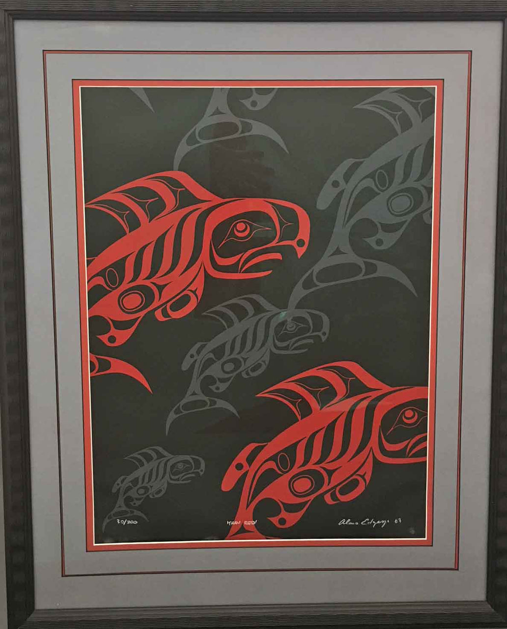 Taku Red Framed Print