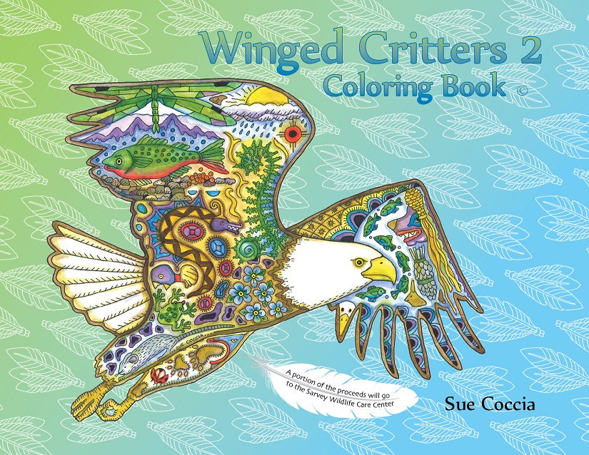Winged Critters 2 Coloring Book by Sue Coccia