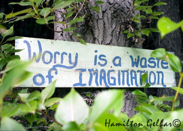 Worry is a Waste Metal Print