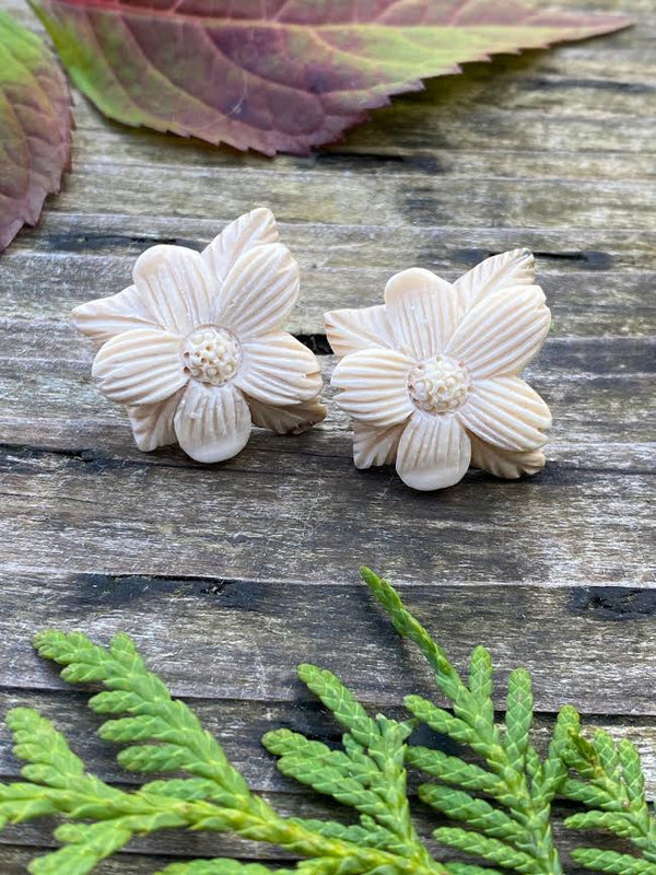 Mammoth Ivory Dogwood Earrings