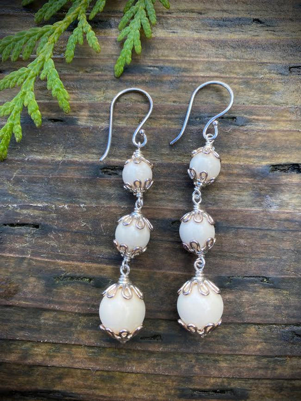 Mammoth Ivory Petal Earrings