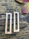 Mammoth Ivory Rectangle Earrings