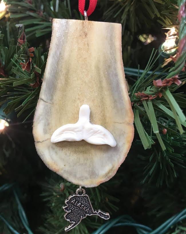 Antler Ornament- Whale Tail