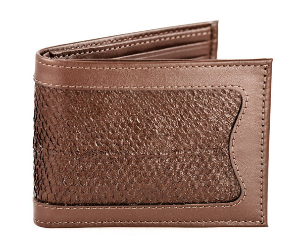 Compact Billfold - Brown Alaska Salmon Leather