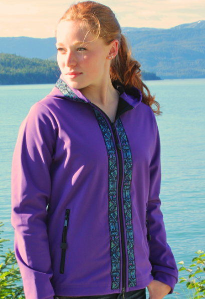 Denali Jacket Lupine Softshell with Totem (aqua) Trim