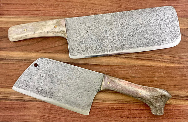 Cleaver Knife Antler Handle