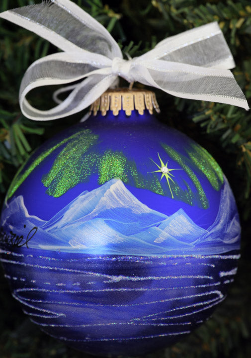 Aurora Marina Hand Painted Alaska Ornament