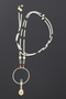 Beaded Necklace with Walrus Ivory Pendant - 32""
