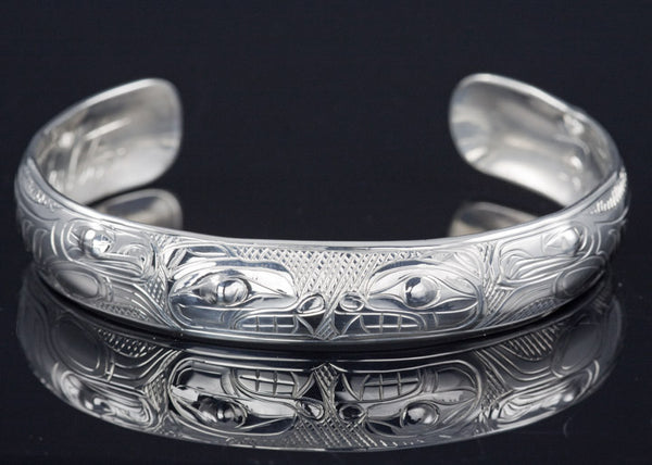 "Bear Silver Bracelet 1/2"" x 6""  by Chilton"