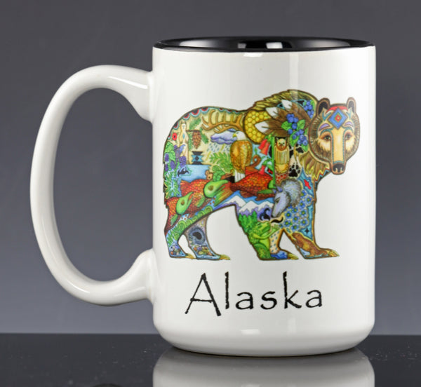 Grizzly Bear Mug By Sue Coccia