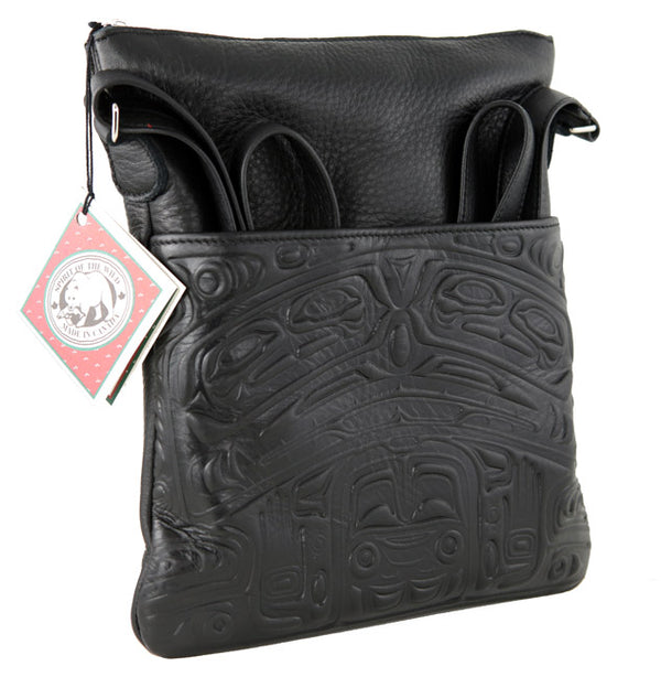 Bear Box Solo Leather Bag Black