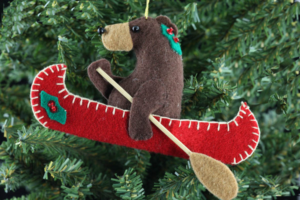 Bear in Canoe Ornament