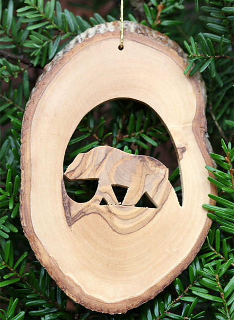 Olive Wood Ornament-Bear