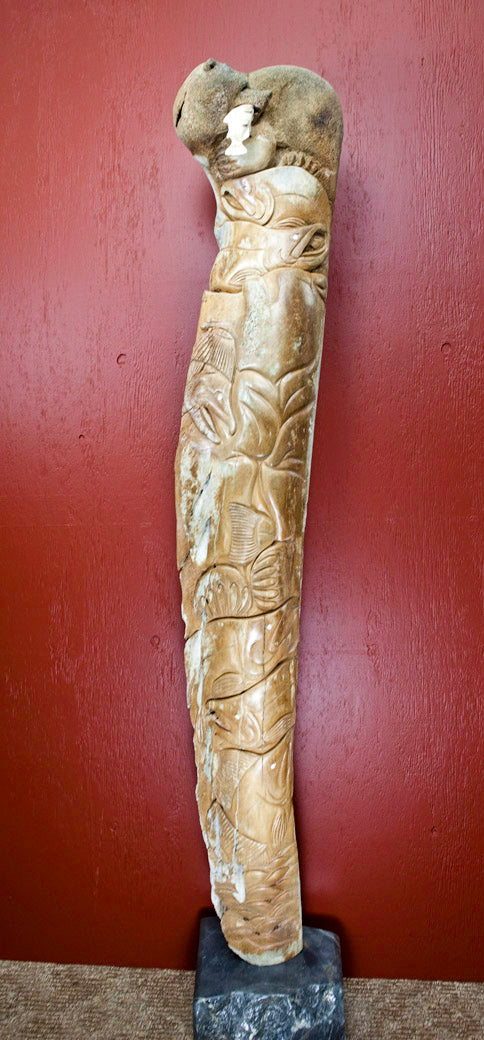 Totem Whale Bone Carving