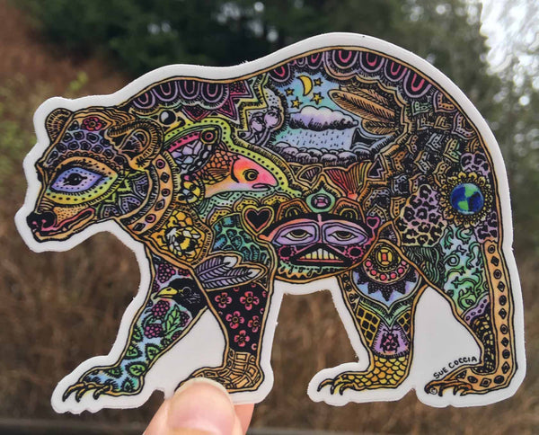 Bear Sticker by Sue Coccia