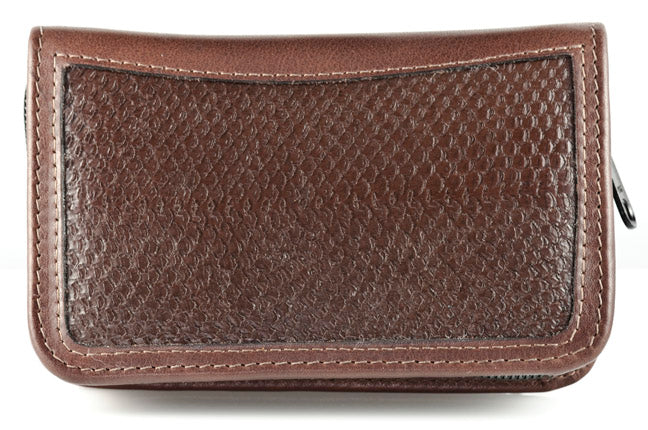 Alaska Salmon Leather Fly Wallet - Brown