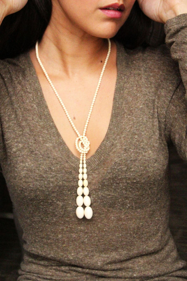 Mammoth Ivory Bola Necklace