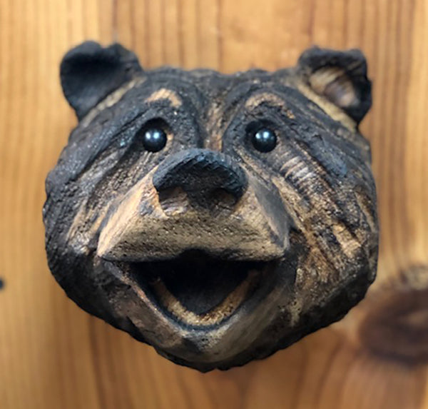 Chainsaw Carved Bear Head